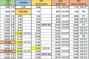 영광버스터미널 시간표