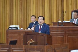 김준성 군수 2020년 예산안 제출에 따른 시정연설