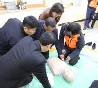 영광읍 전문의용소방대원, 심폐소생술 교육으로 전문성 강화