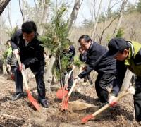 영광군, 제73회 식목일 기념 '물무산 행복숲' 나무심기 행사