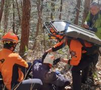 영광소방서, 불갑산 산악사고 등산객 긴급 구조