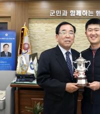 """영광군, """"KPGA 최경주 인비테이셔널"""" 우승자 박성국 선수 격려"""