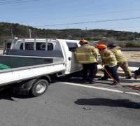 영광장례식장앞 4차선 도로에서 추돌사고