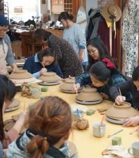 한빛원전, 영광맘카페 회원과 도자기·다도 문화체험 시행